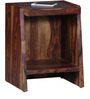 Nexo End Table in Provincial Teak Finish with Wireless Charging by Woodsworth