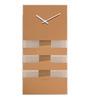 Nextime Copper Glass 8 x 15 Inch Bold Stripes Wall Clock