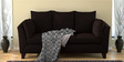 Nikole Three Seater Sofa in Chestnut Brown Colour by CasaCraft