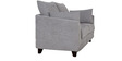 Nikole Two Seater Sofa in Silver Grey Colour by CasaCraft