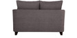 Nikole Two Seater Sofa in Slate Grey Colour by CasaCraft
