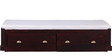 Barlow Solid Wood Single Bed with Storage in Passion Mahogany Finish by Woodsworth