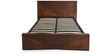Nixon King Bed with Hydraulic Storage in Walnut Finish by @home