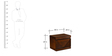 Nixon Queen Size Bedroom Set in Brown Colour by @home