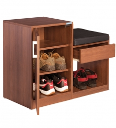 Nilkamal Marvel Brown Shoe Rack