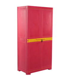 Nilkamal Freedom Red And Thumbs Up Yellow Mini Medium Cabinet