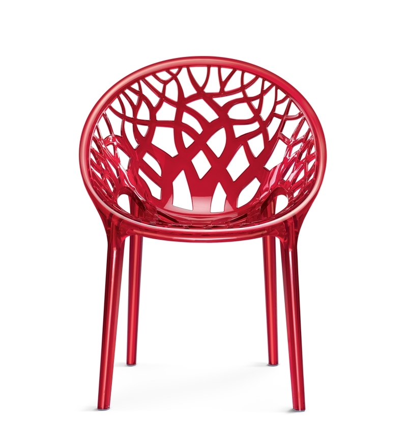 Nilkamal Crystal Chair Red Best Deals With Price