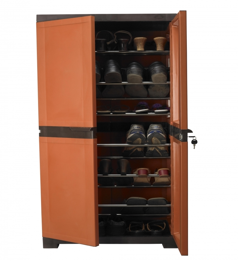 Nilkamal Freedom Shoe Cabinet Weather Brown And Rust By Nilkamal Online Moulded Plastic
