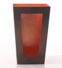 Ni Decor Brown & Orange Metal V Shape  Candle Holders