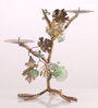 Ni Decor Gold Metal & Glass Tree Style Candle Holder