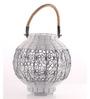 Ni Decor White Metal Decorative Lantern Candle Holder