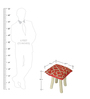 Nicobar Hand-Made Stool in Red & Beige Color by The Rug Republic