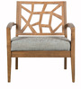 Nidia Lounge Arm Chair in Cocoa & Pebble Finish by CasaCraft