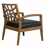 Nidia Arm Chair in Black and Cocoa Finish by CasaCraft