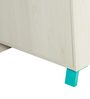 Niels Three Door Wardrobe in Beige and Blue Finish by Alsapan