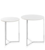 Niko Nesting Table (Set of 2) in White Colour by @ Home