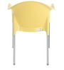 Novella 09 Stainless Steel Chair in Yellow Colour by Nilkamal