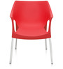 Novella Series - 10 Set of 2 Chairs in Red Colour by Nilkamal