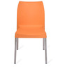 Novella Series - 7 Set of 2 Chairs in Orange Colour by Nilkamal