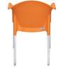 Novella Series - 9 Set of 2 Chairs in Orange Color by Nilkamal