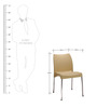 Novella Visitor Chair in Beige Colour by Nilkamal