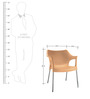 Novella Visitor Chair with Arms in Beige Colour by Nilkamal
