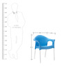 Novella Visitor Chair with Arms in Blue Colour by Nilkamal