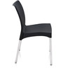 Novella Visitor Chair without Arms in Black Colour by Nilkamal