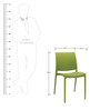 Novella Visitor Chair without Arms in Green Colour by Nilkamal