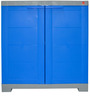 Novelty Compact Storage Cabinet in Grey & Blue colour by Cello