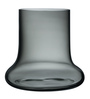 Nude Black Glass Toque Smoke Vase