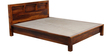 Oakland Queen Size Bed in Provincial Teak Finish by Woodsworth