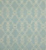 Obeetee Blue & Ivory Wool 60 x 96 Inch Scroll Carpet
