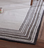 Obeetee Grey Wool 96 x 60 Inch Concentric Border Carpet