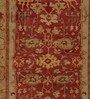 Obeetee Red Wool 96 x 60 Inch Caleb Persian Carpet