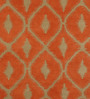 Obeetee Rust Wool 60 x 96 Inch Ikat Carpet