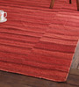 Obeetee Rust Wool 96 x 60 Inch Fusion Dhurrie