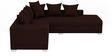Oceanus Six Seater RHS Sectional Sofa Set in Dark Brown Colour by CasaTeak