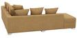 Oceanus Six Seater RHS Sofa Set in Light Brown Finish by CasaTeak
