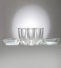Ocean Happy Moment Glass and Tray Set - Set of 8