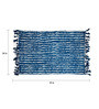 Ocean International Blue Cotton 35 x 24 Inch Striped Area Rug