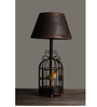 OddCroft Black Iron Rustic Canary Table Lamp