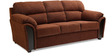 Ohio Fabric Three Seater Sofa Brown Brown Colour by HomeTown