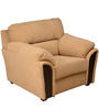 Ohio One Seater Sofa in Beige Colour by HomeTown