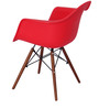 Okaki Accent Chair (Set of 2) in Red Colour by Mintwud