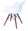 Okaki Accent Chair (Set of 2) in White Colour by Mintwud