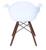 Okaki Accent DSW Eames Replica Chair (Set of 2) in White Colour by Mintwud