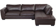 Olive LHS Lounger Sofa in Brown Colour by Royal Oak
