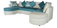 Olivia RHS Sectional Lounger Sofa in Teal Colour by HomeTown