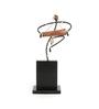 Olha-O Multicolour Wood & Wrought Iron Dholak Figurine